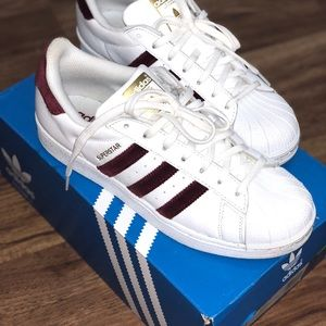 adidas Shoes   Red Velvet Superstar Limited Edition   Poshmark 637e545a0a